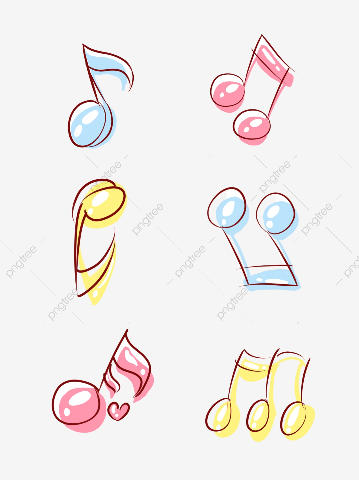 Musique Festival Note Element Dessine A La Main Dessin Anime Stick