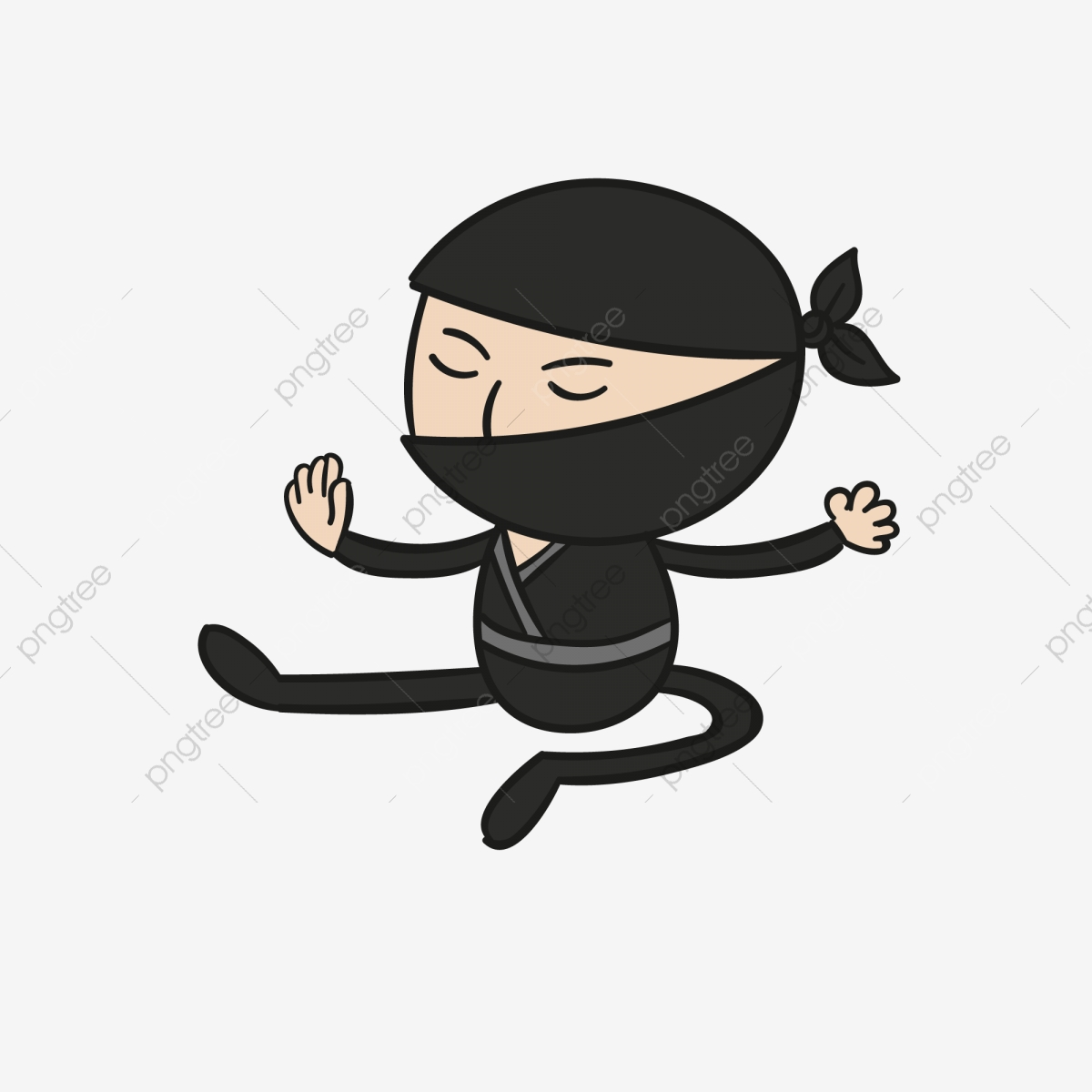 Ninja Jepang Ninja Melompat Ninja Ninja Kartun Ninja
