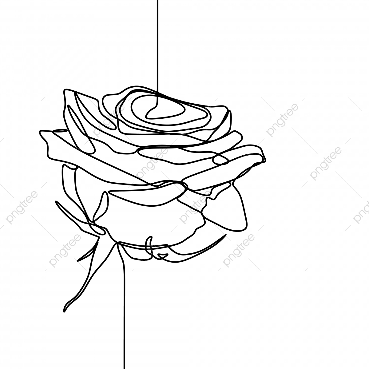Et De Papier Peint Lineart Continue De Modele Simple Elegant Style