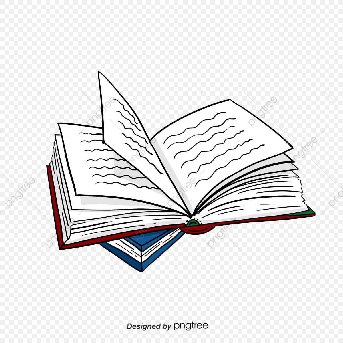 Book information. Open books working png