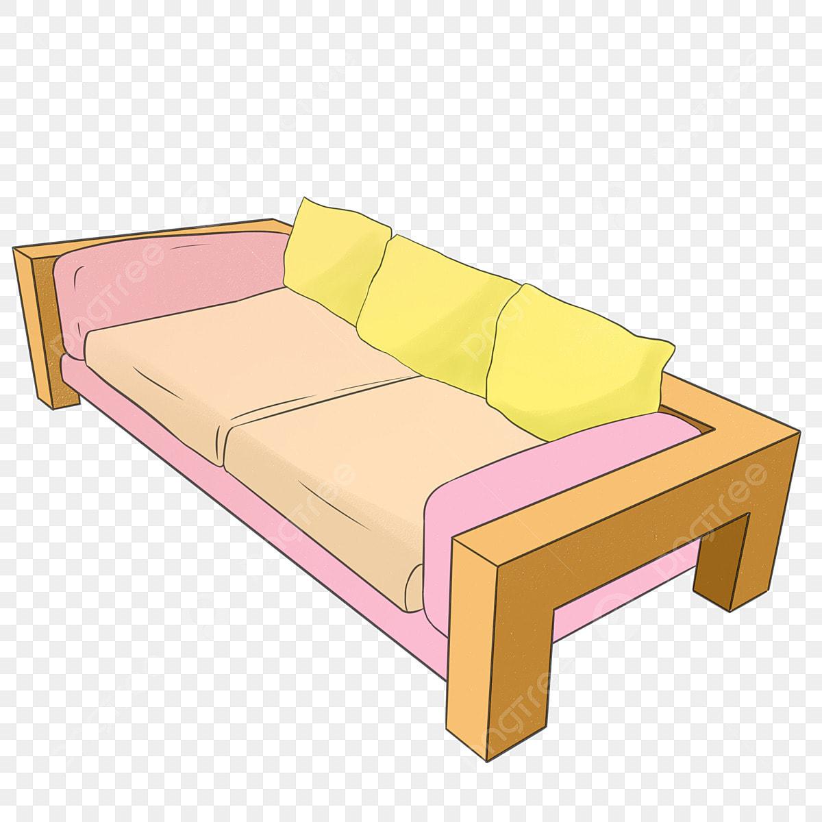 Orange Sofa Frame Solid Wood Shelf Sofa Cushion Yellow ...