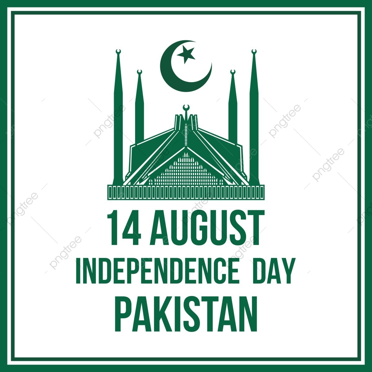 Pakistan Happy Independence Day 14 August 14 August Moon Flag Of Pakistan Png And Vector With Transparent Background For Free Download