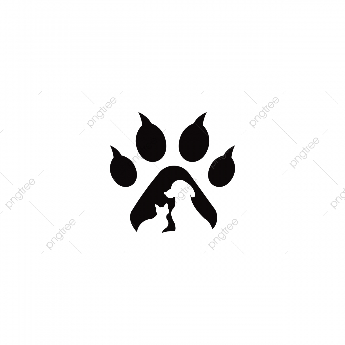 Pets Vector Logo Template This Cat And Dog Logo Could Be Red