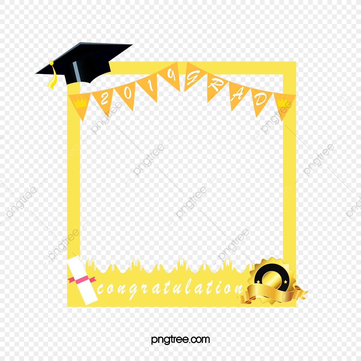 Photo Borders For Graduates, 2019, Congratulation