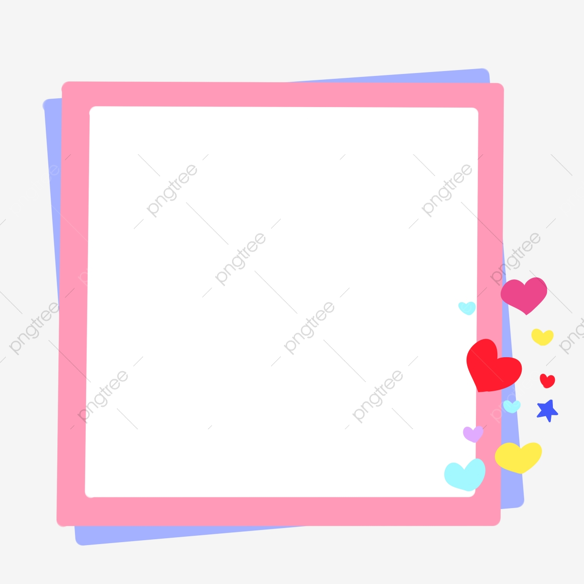 . Pink Frame Cartoon Border Cute Border Love Decoration  Heart