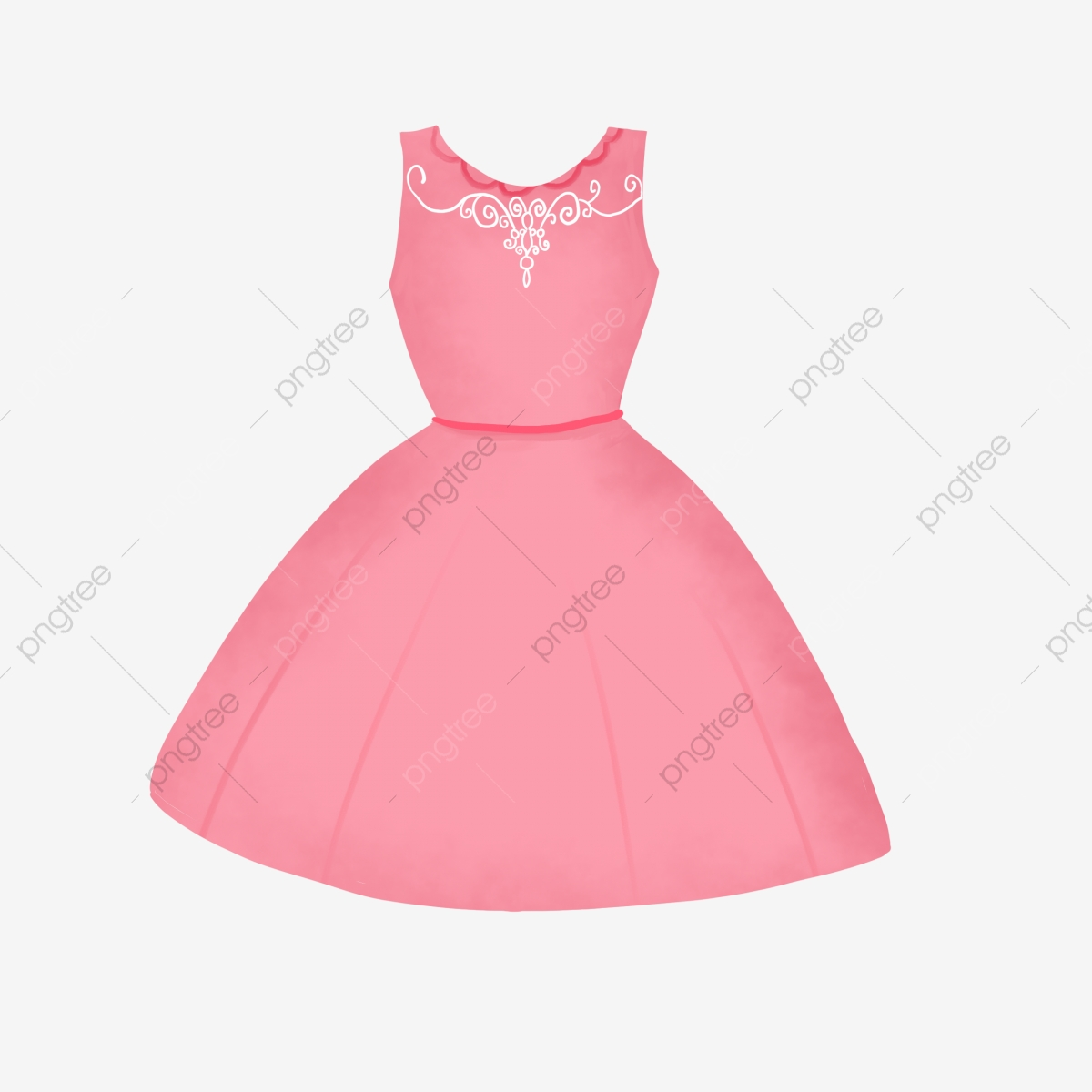 Pink Princess Dress Hand Painted Princess Dress Cartoon