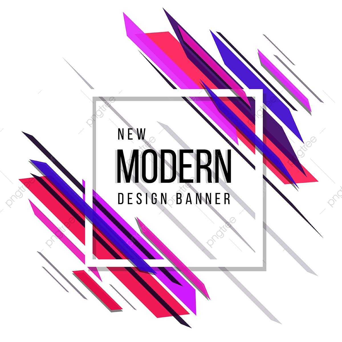 Pink, Red And Blue Theme New Modern Abstract Design