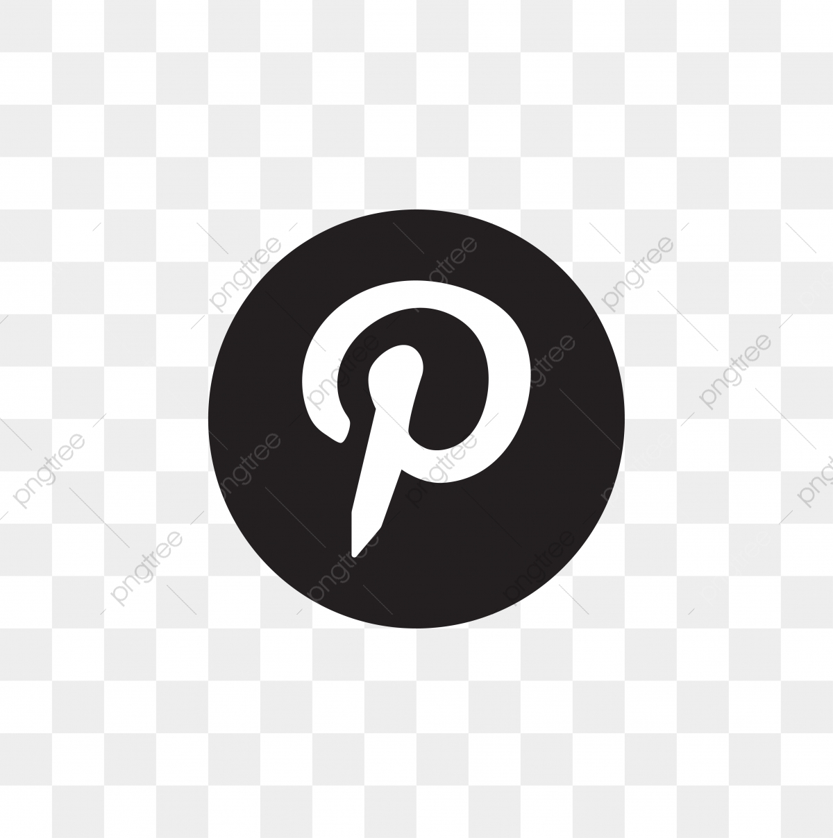pinterest logo vector free download
