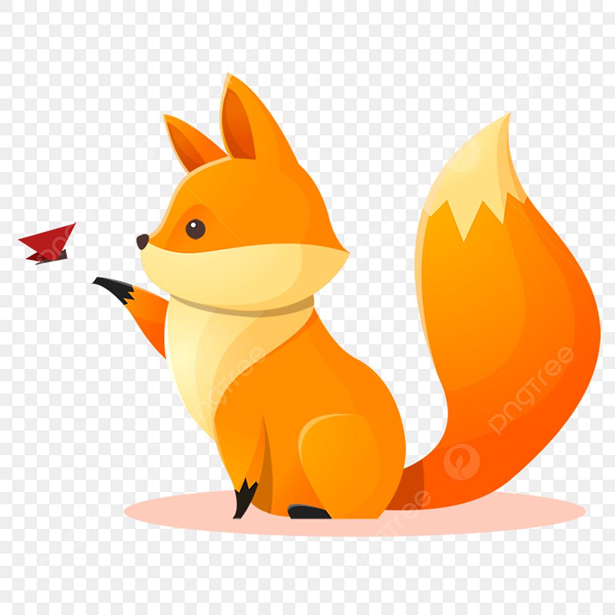 Brincalhao Borboleta Fox Jogando Raposa Desenhos Raposa