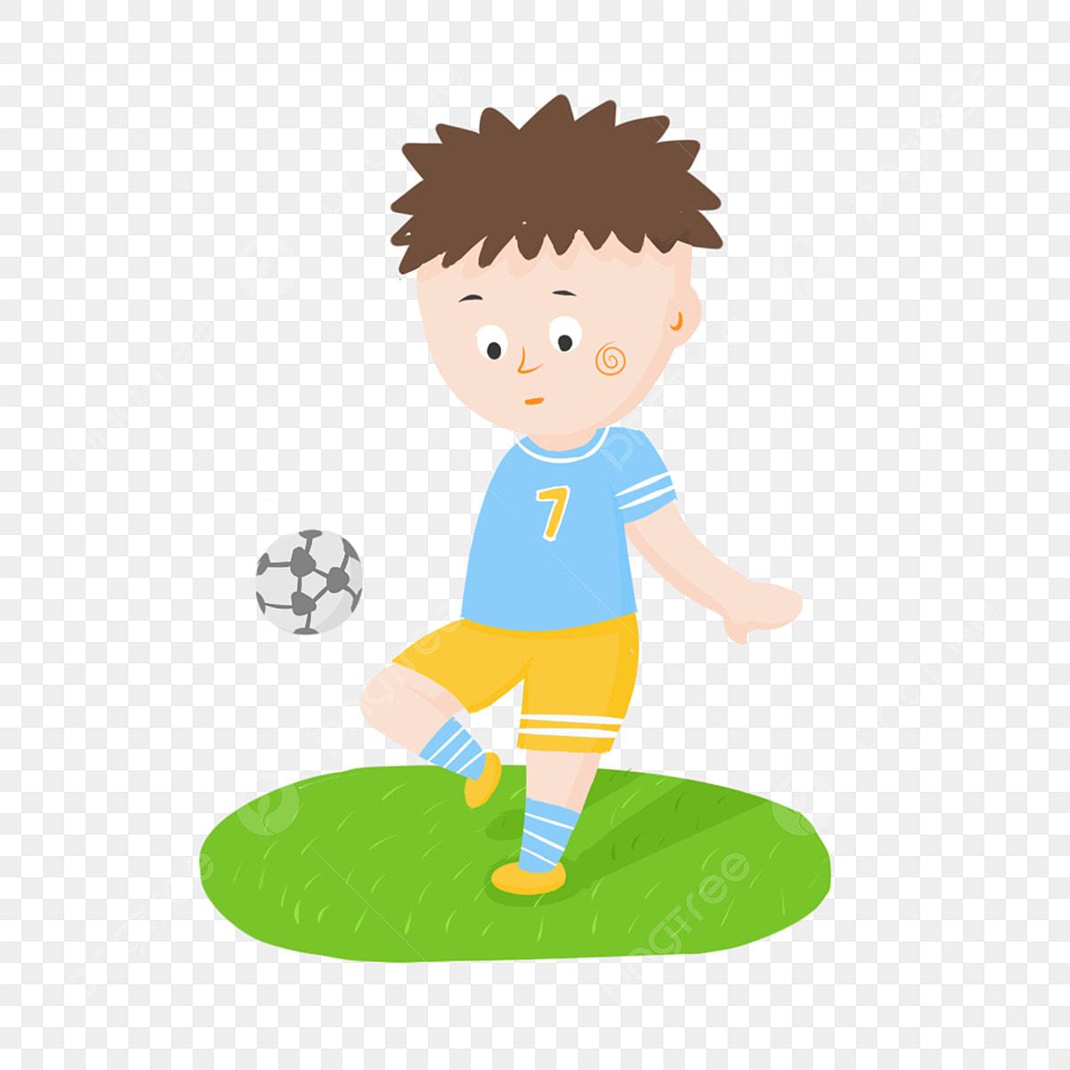 Gambar Bermain Kanak Kanak Bola Sepak Tangan Kartun Yang Ditarik Lucu Elemen Komersial Main Bola Anak Tangan Dicat Png Dan Psd Untuk Muat Turun Percuma