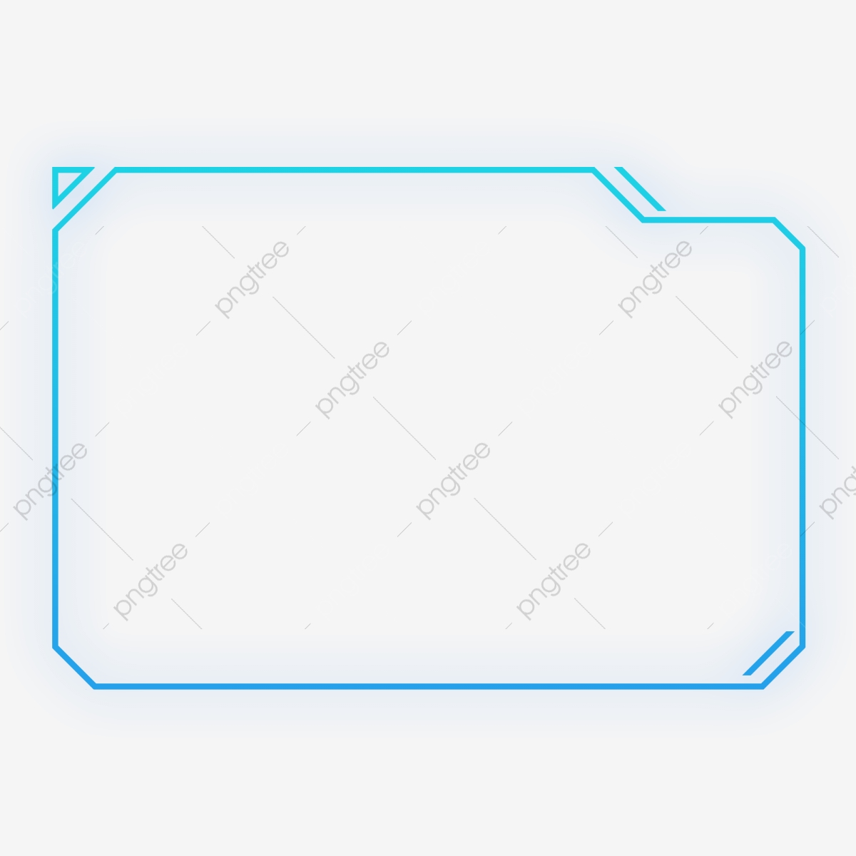 Png Free Buckle Blue-violet Gradient Color External Glow Geometric