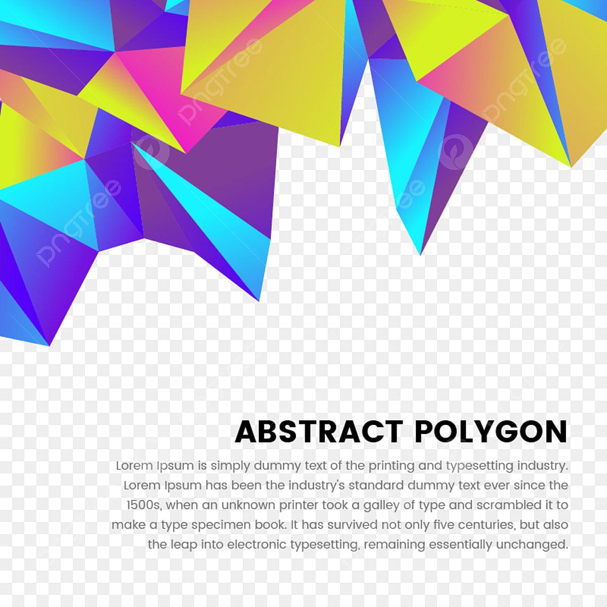 متعدد الأضلاع الملونة الإطار مع الطباعة ملخص زرقاء لون لهجة والشكل الهندسي Png والمتجهات للتحميل مجانا