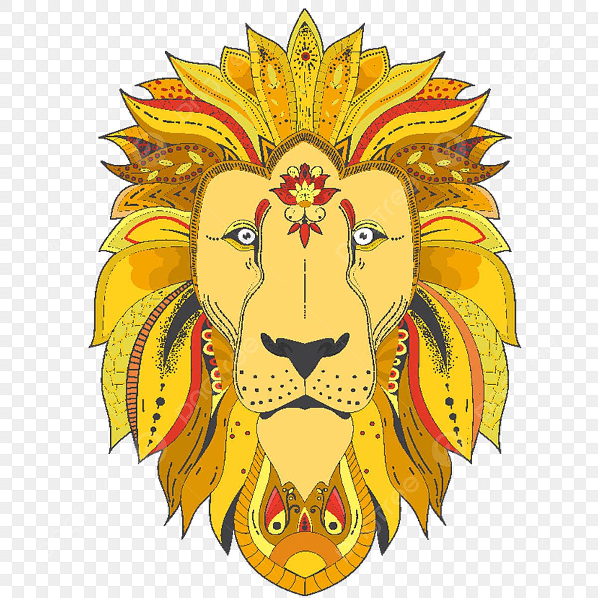 Zenart Affiche Avec Un Lion Vector Coloriage Lion Png Et