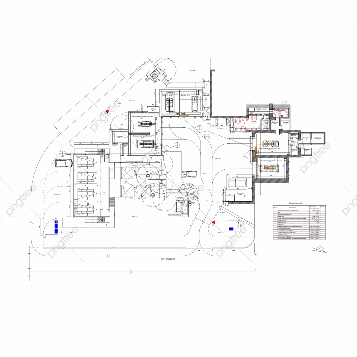 Project Of Car Wash Complex Auto Service Station Plan