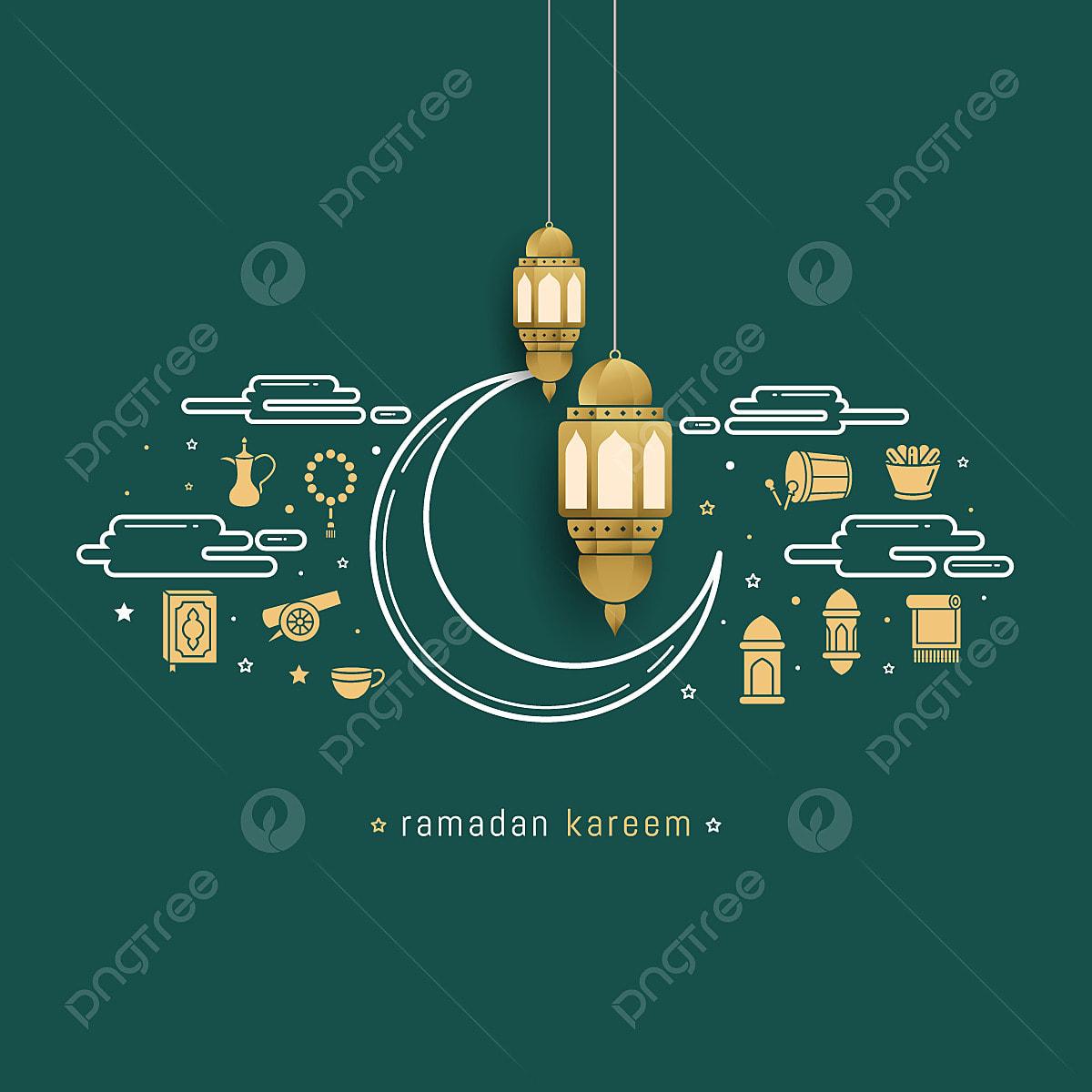 Ramadan Kareem Islamic Greeting Card Template Design