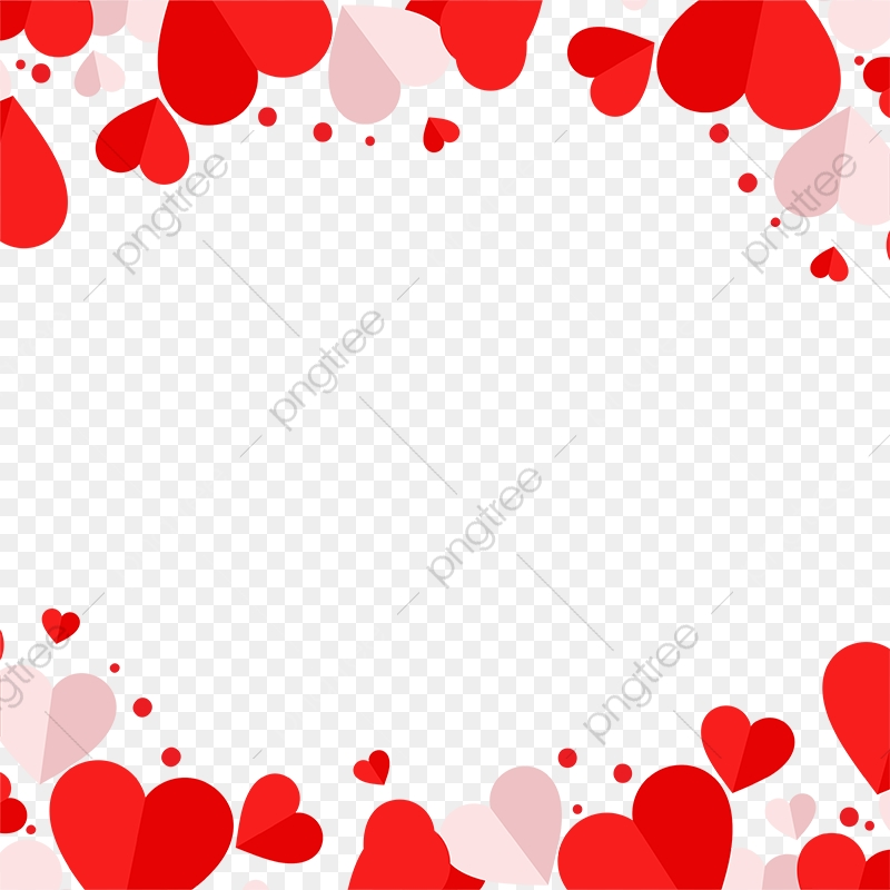 Red And Pink Heart Vector Frame Png, Red Heart, Heart, Heart