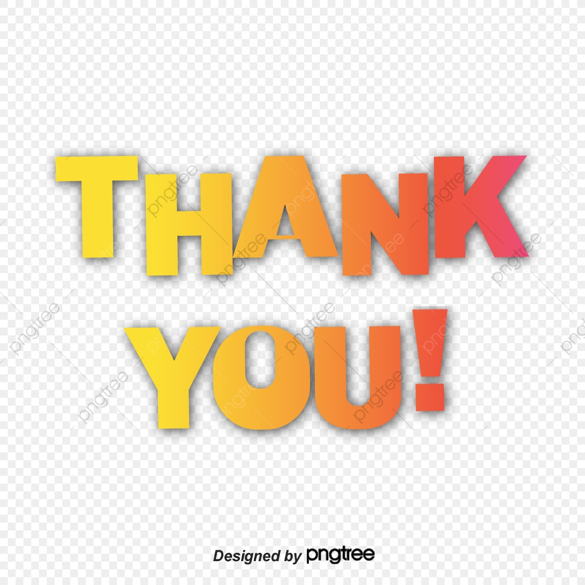 Red And Yellow Gradient Simple Thank You Font Design Ppt Mapping