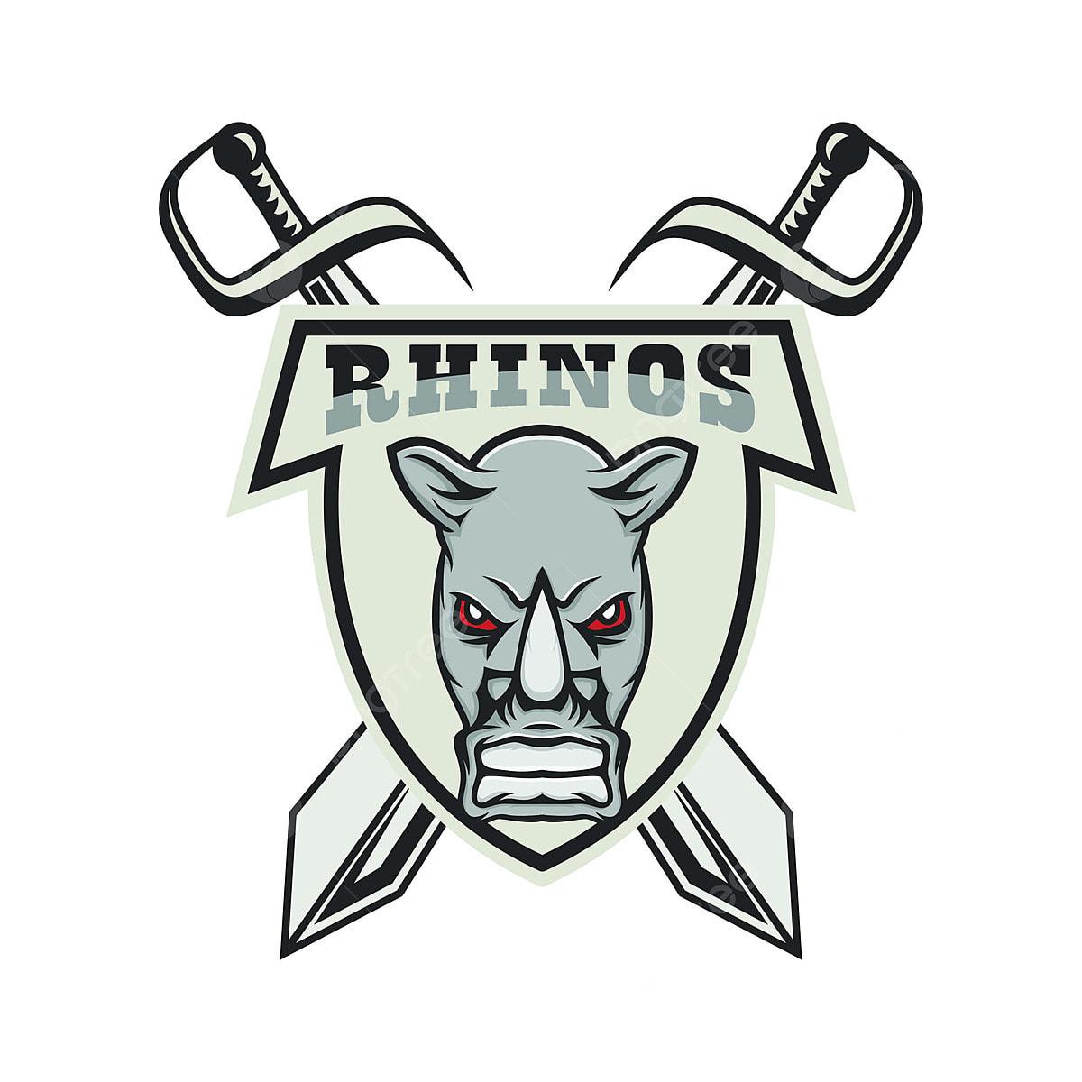 Rhino Vector Mascot Head Logo Design Element Illustration