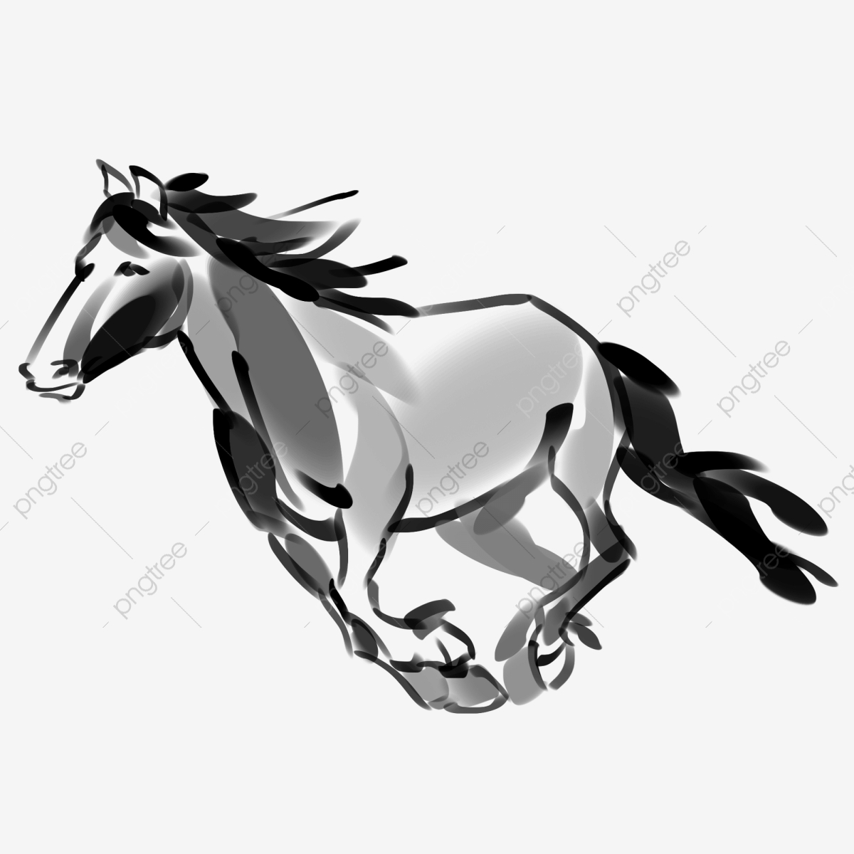 Running Horse Running Horse Illustration Hand Drawn Running Horse Cartoon Running Horse Horse Clipart Black And White Ink Running Horse Running Horse Illustration Png Transparent Clipart Image And Psd File For Free
