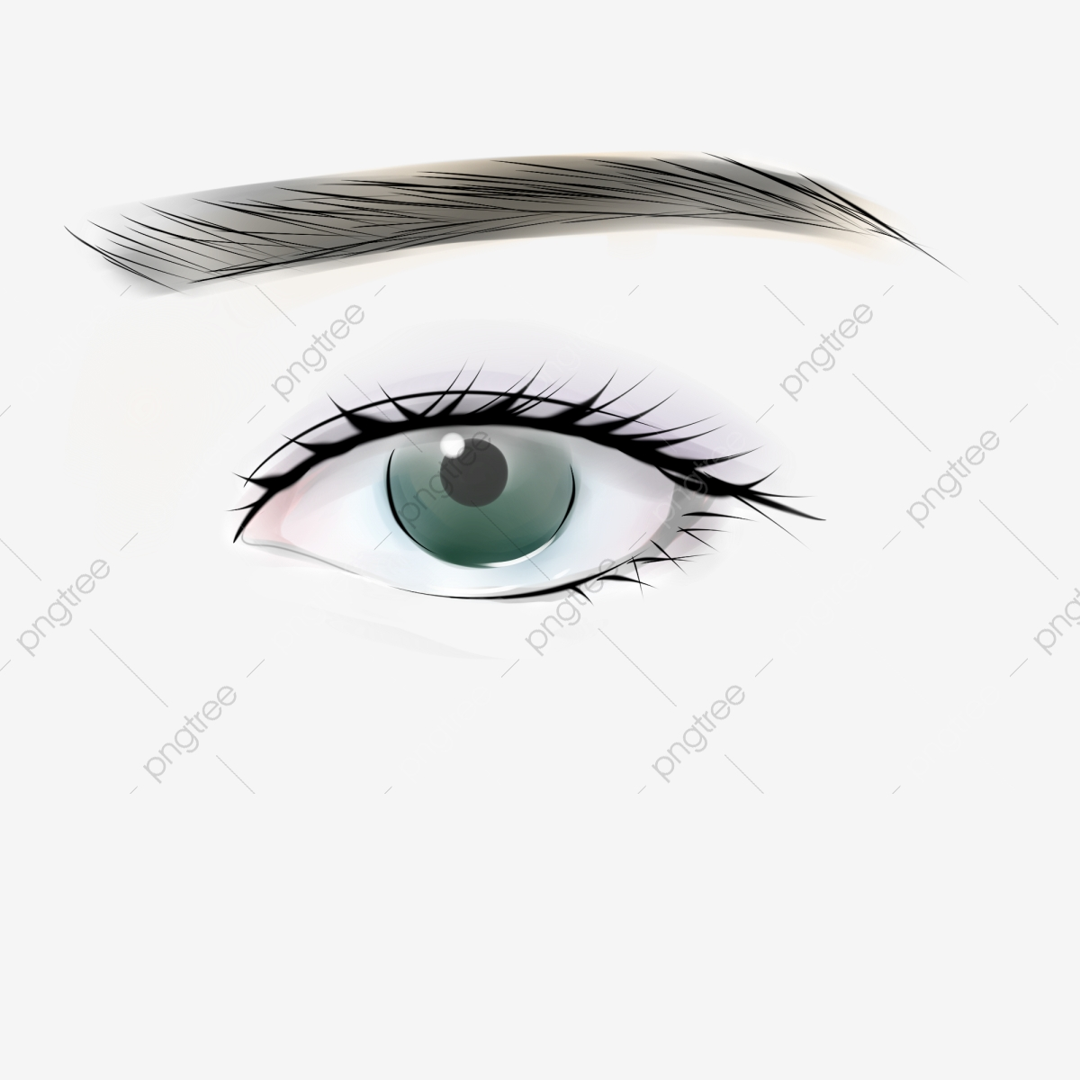 Sai Hand Green Sad Eye Sai Hand Painted Green Png Transparent Clipart Image And Psd File For Free Download