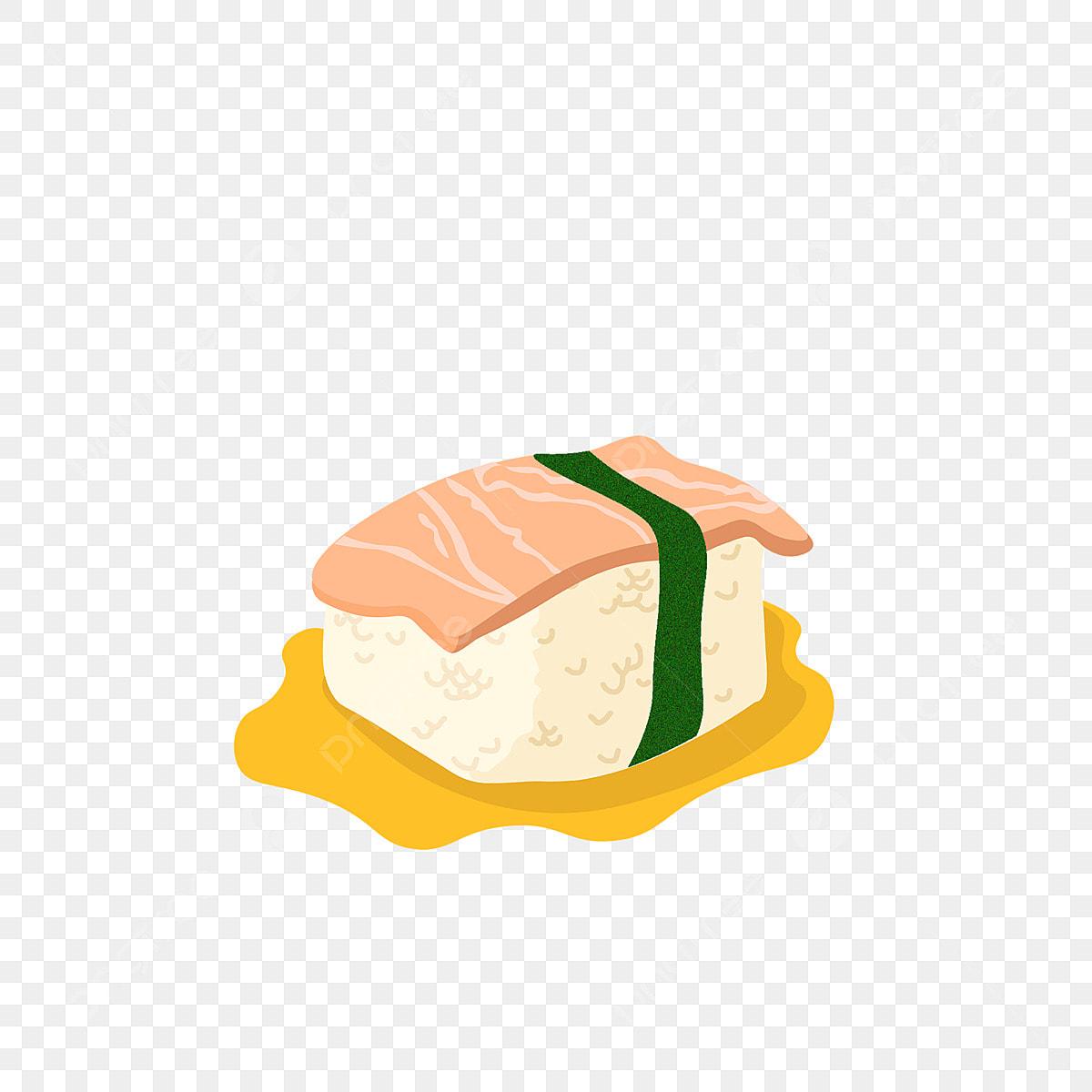 Unsur Makanan Sushi Salmon Sushi Salmon Kelp Png Dan Vektor