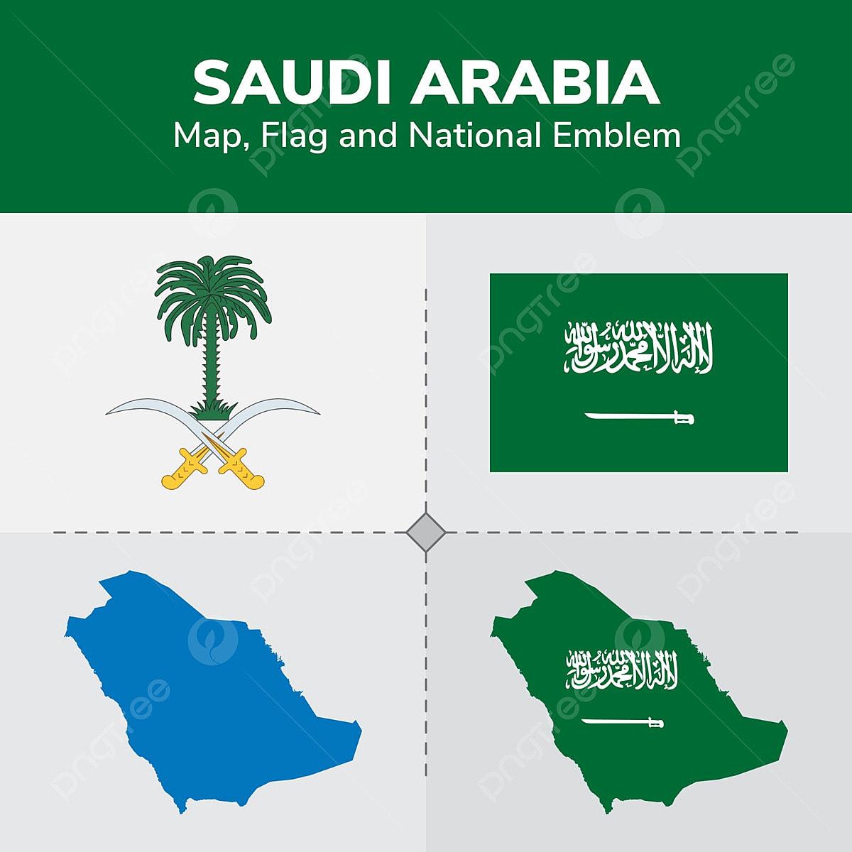 خريطة السعودية العلم والشعار الوطني اليوم الوطني السعودي اليوم