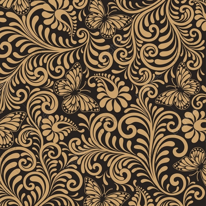 Seamless Floral Pattern Background Luxury Style Background Vector