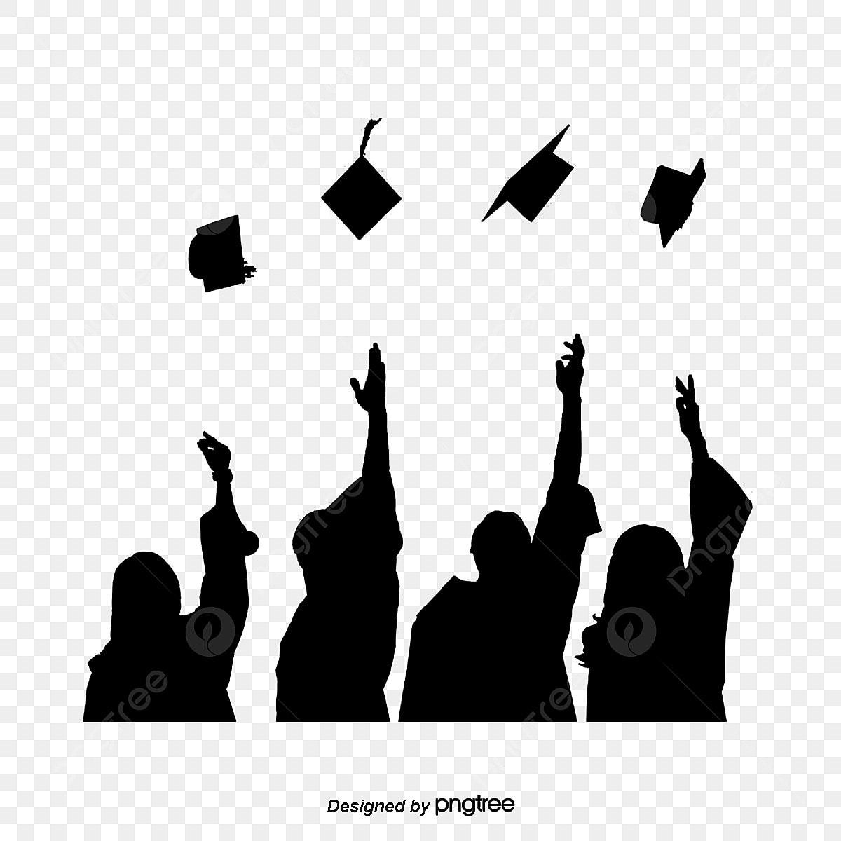 Silhouette Of Graduation Cap, Figure Silhouette, College
