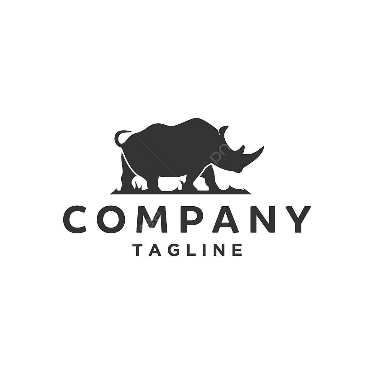 Silhouette Of Rhino Logo Designs, Rhino, Rhinoceros, Vector
