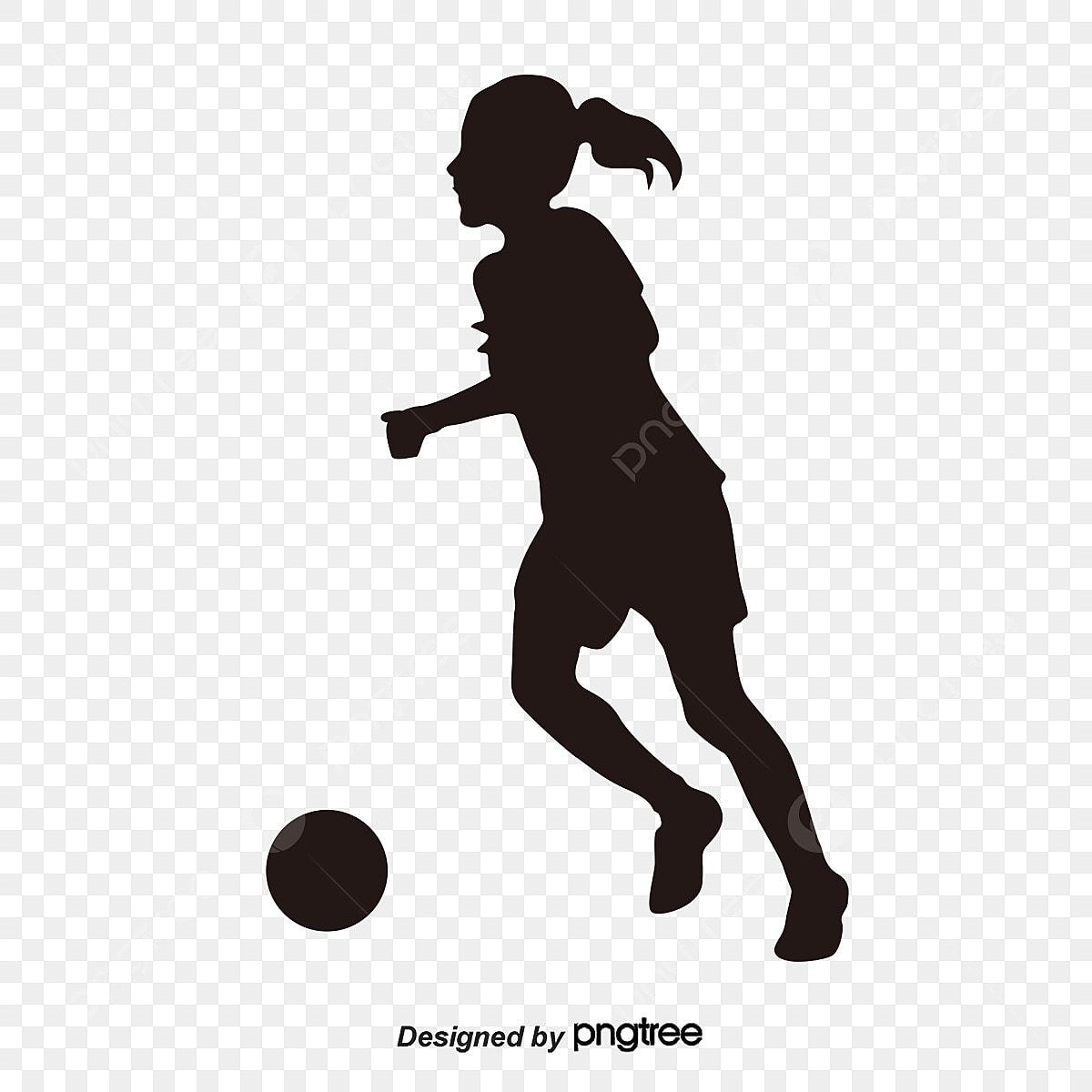 Silhuetas De Jogadores De Futebol De Mulheres Negras, Sports ...