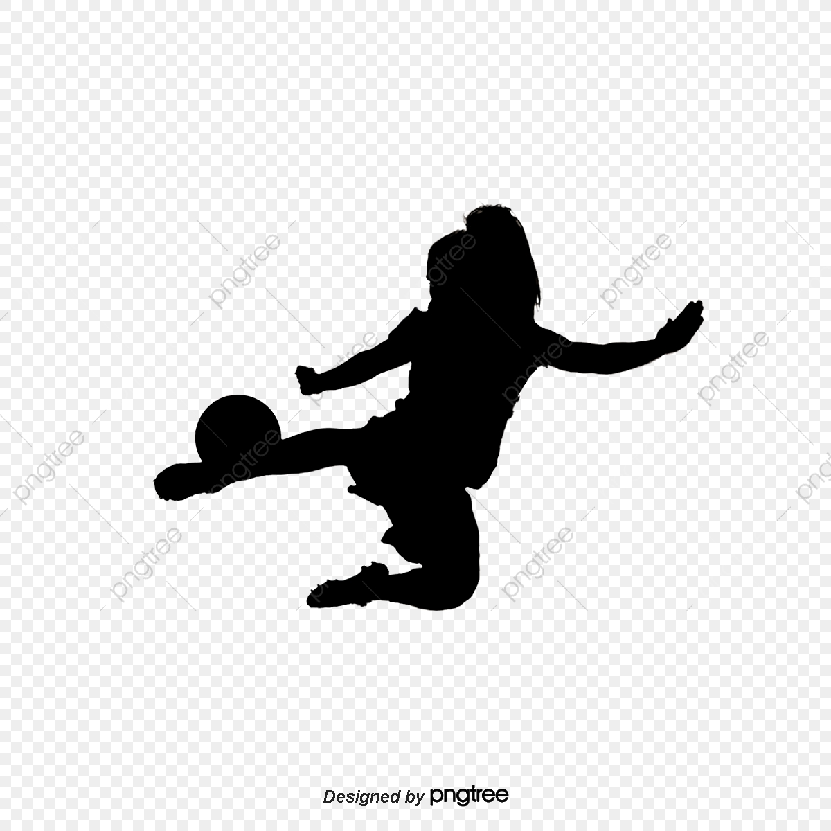 Wanita Pemain Sepak Bola Bayang Bayang Wanita Wanita Fail