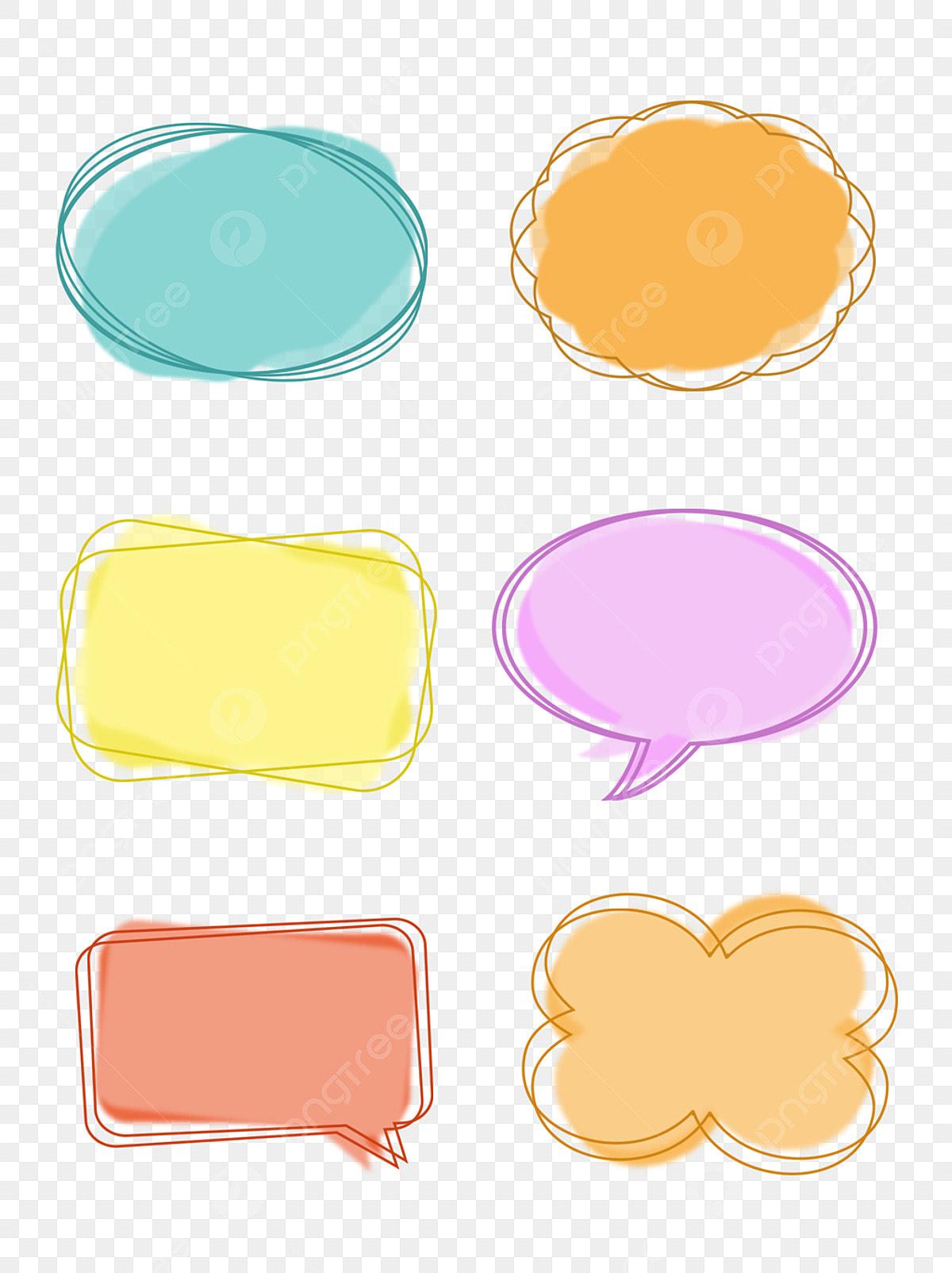 Kartun Mudah Dialog Lucu Gelembung Kotak Bulat Perbualan