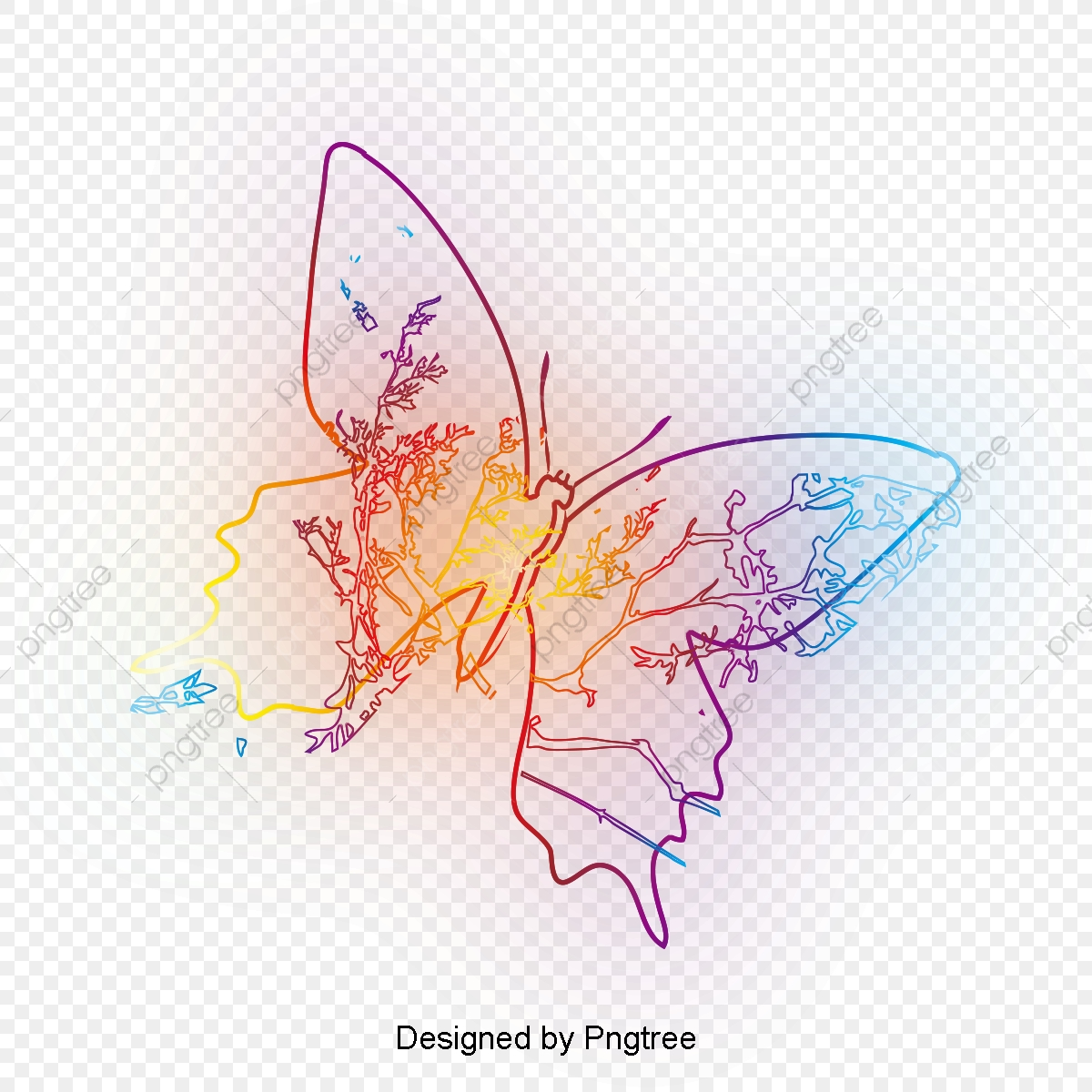 Simple Hand Painted Aesthetic Butterfly Design Butterfly Dreamy Insect Png Transparent Clipart Image And Psd File For Free Download