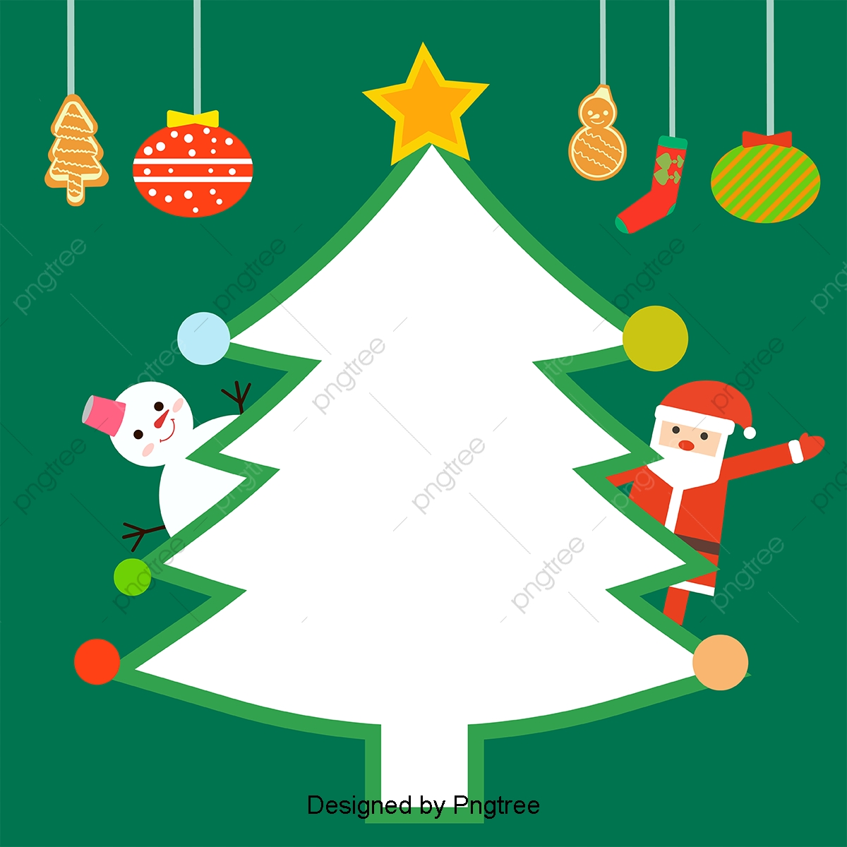 Simple Hand Painted Christmas Cute Cartoon Background