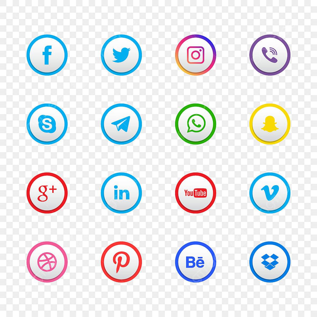 وسائل الإعلام ايقونات التواصل الاجتماعي