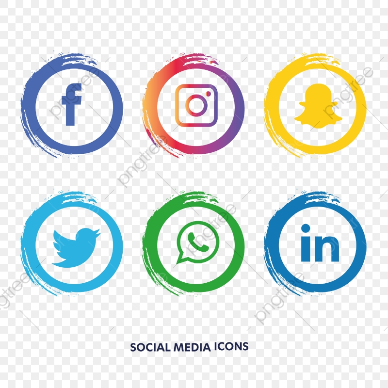 social media icons set facebook instagram whatsapp  social