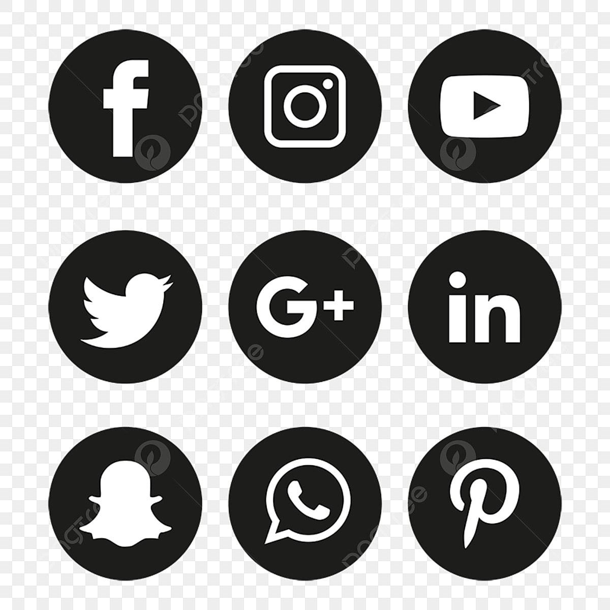 Social Media Icons Set Logo Vector Illustrator, Social Media Icons