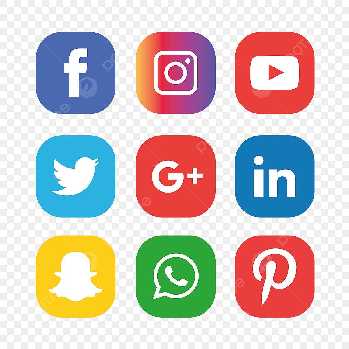 les m u00e9dias sociaux d ic u00f4nesfacebook instagram whatsapp sociaux m u00e9dias ic u00f4ne png et vecteur pour
