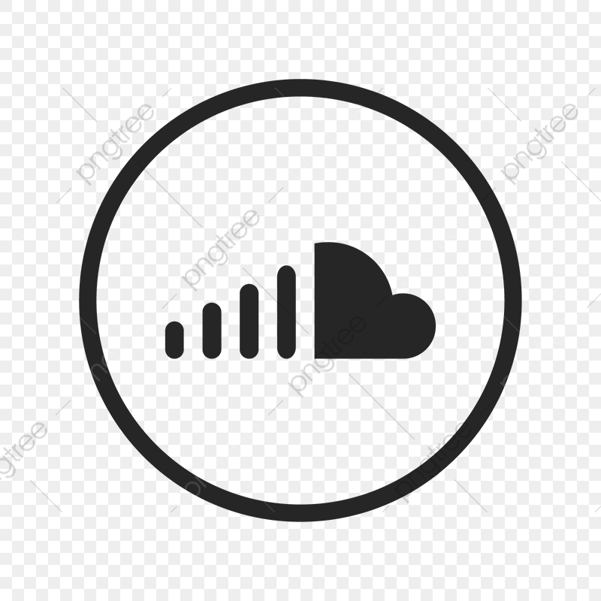 Soundcloud Icon, Soundcloud, Sound, Cloud PNG and Vector