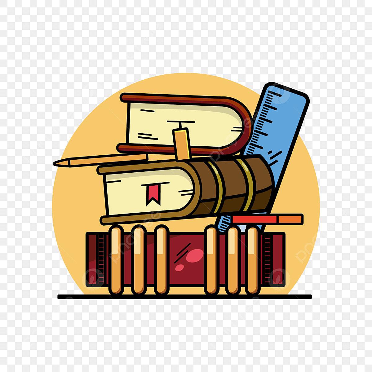 Alat Tulis Pengarah Kartun Corak Hiasan Buku Penguasa