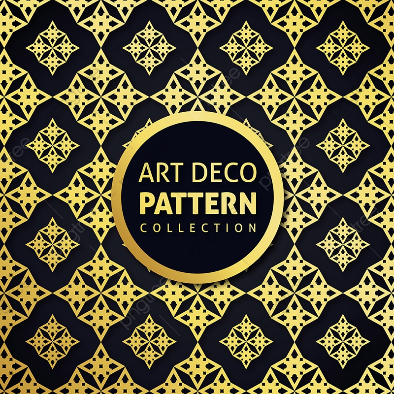 Stylish Art Deco Style Scales Ornament In Gold And Black