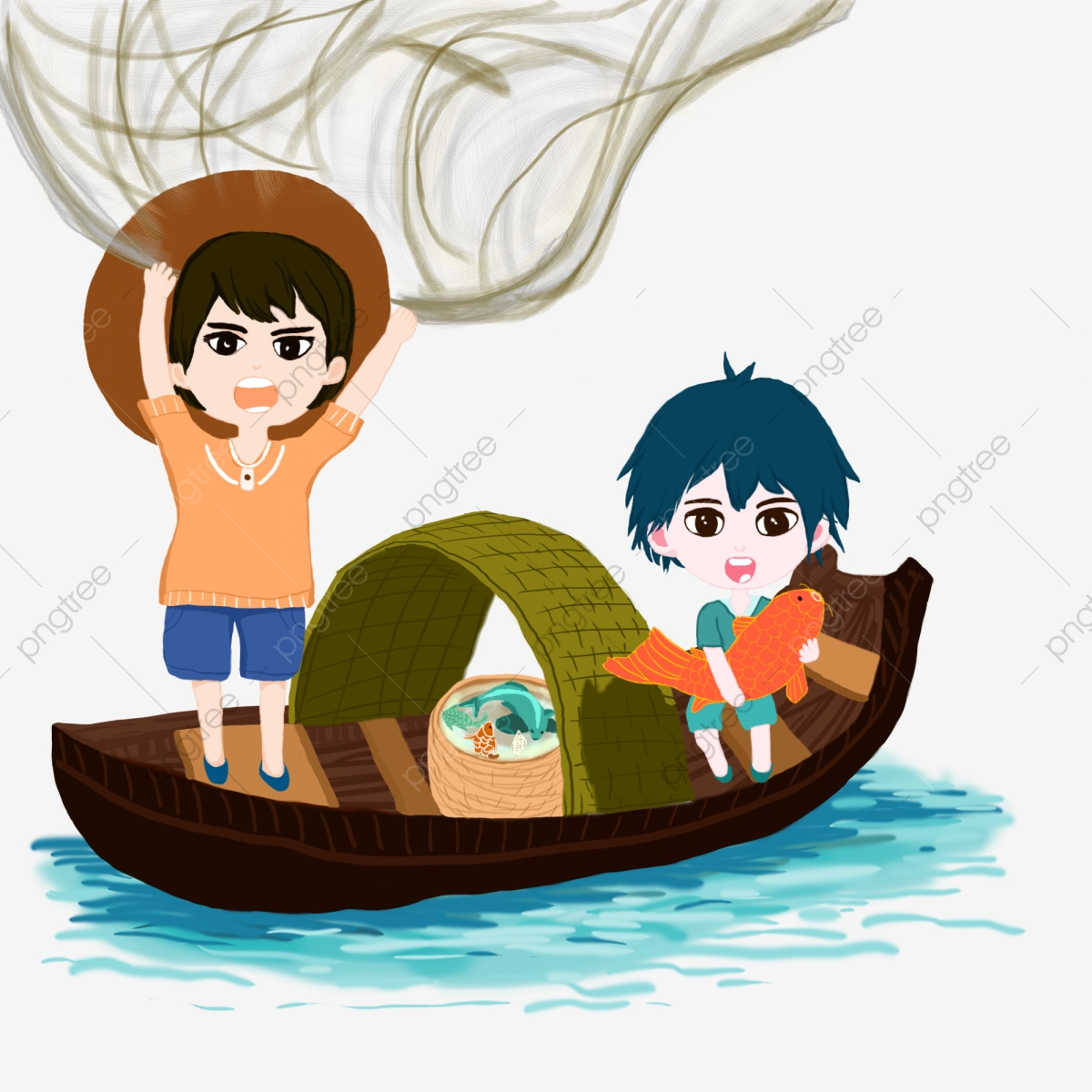 Illustration Of Little Boy Fishing Royalty Free Cliparts, Vectors, And  Stock Illustration. Image 69051959.