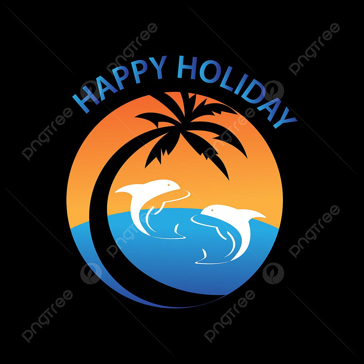 Summer Logo Vector Beach Logo Palm And Wave Icon Design ...
