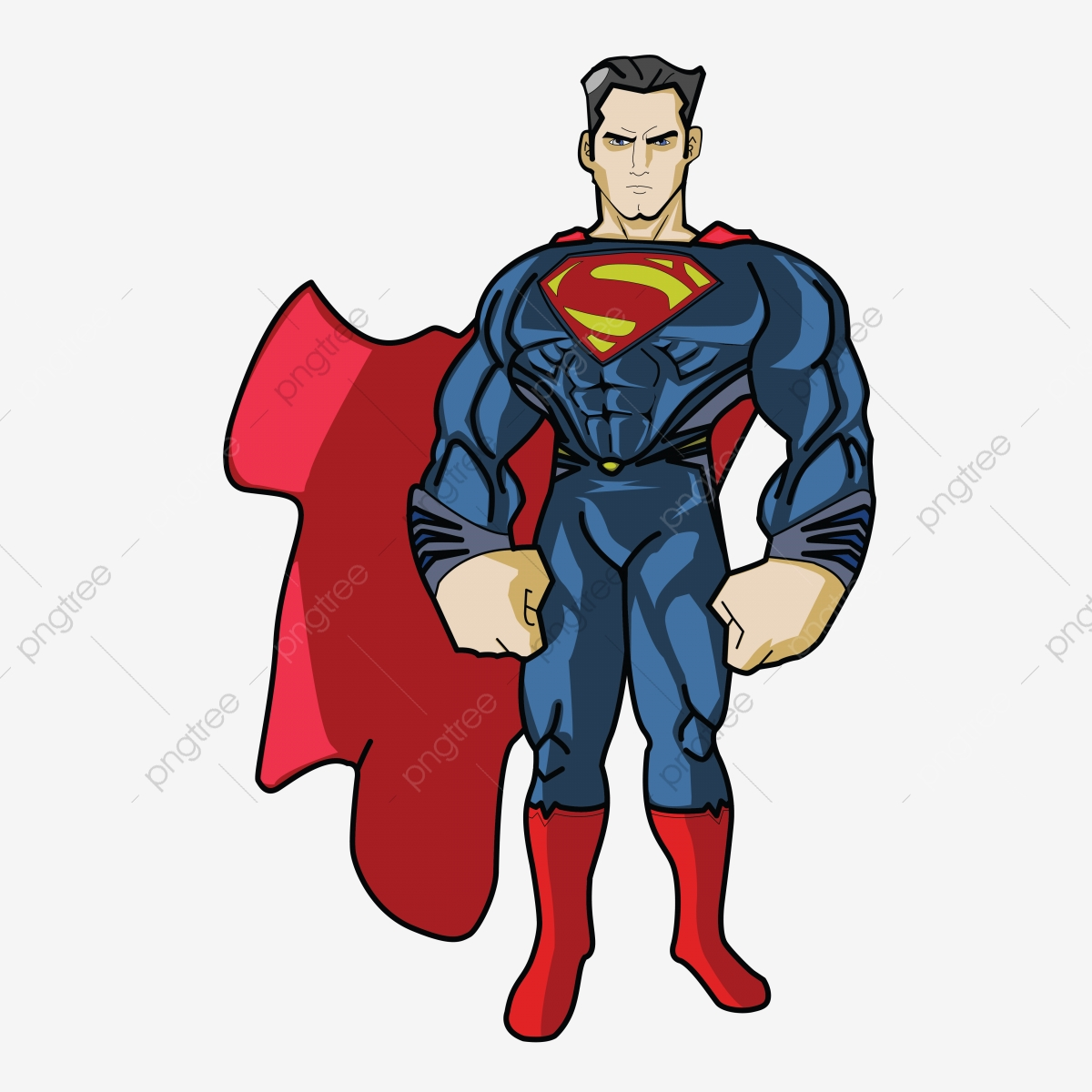 Superman Png Blue Red Png And Vector With Transparent