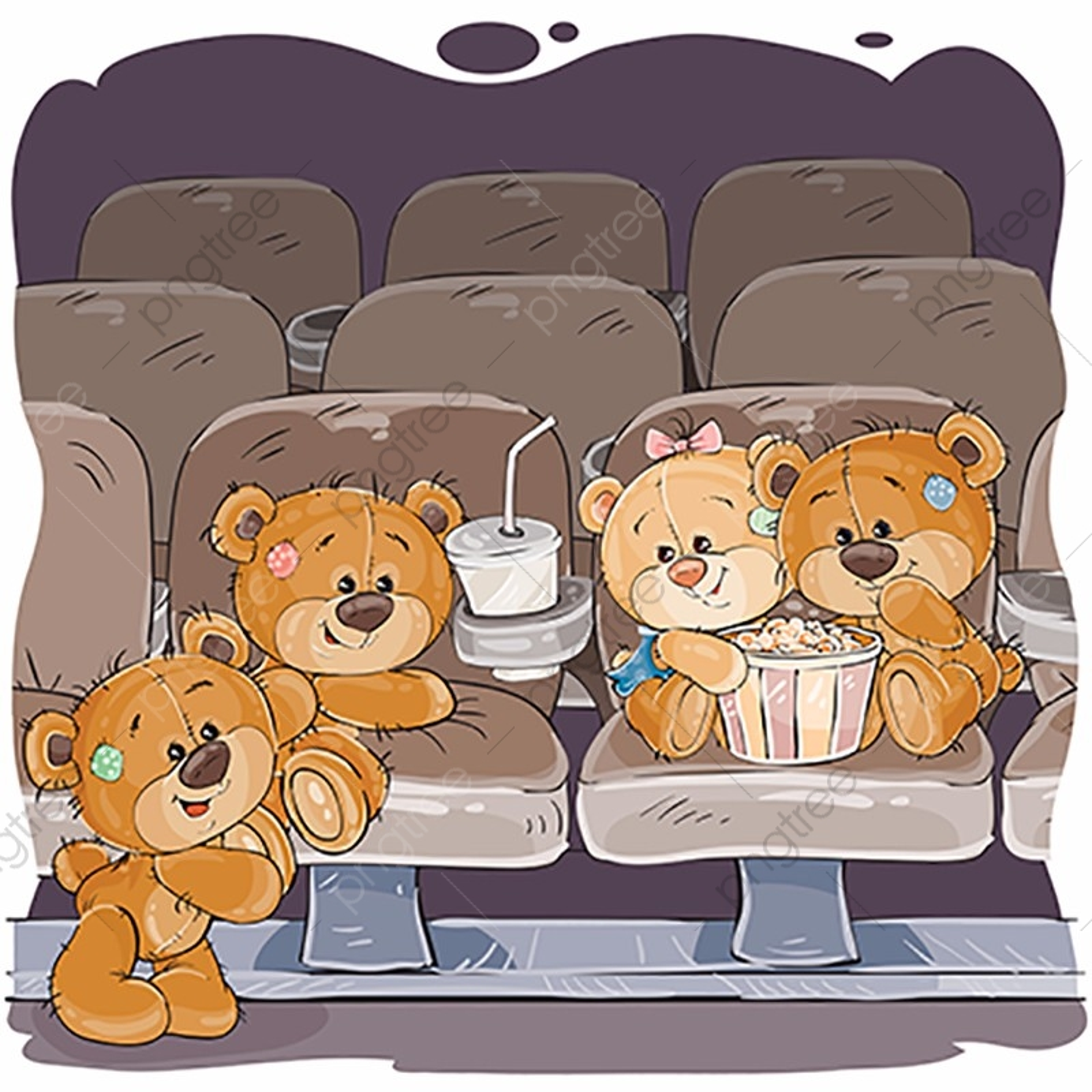 медвежонок смотрит телевизор картинки процессе игры ребенок