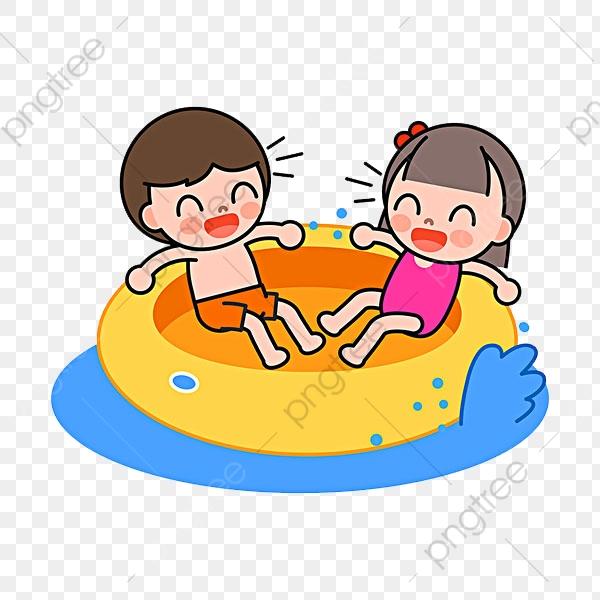 無料ダウンロードのための水遊びの子供 漫画 ジェーン筆 手描き Png画像