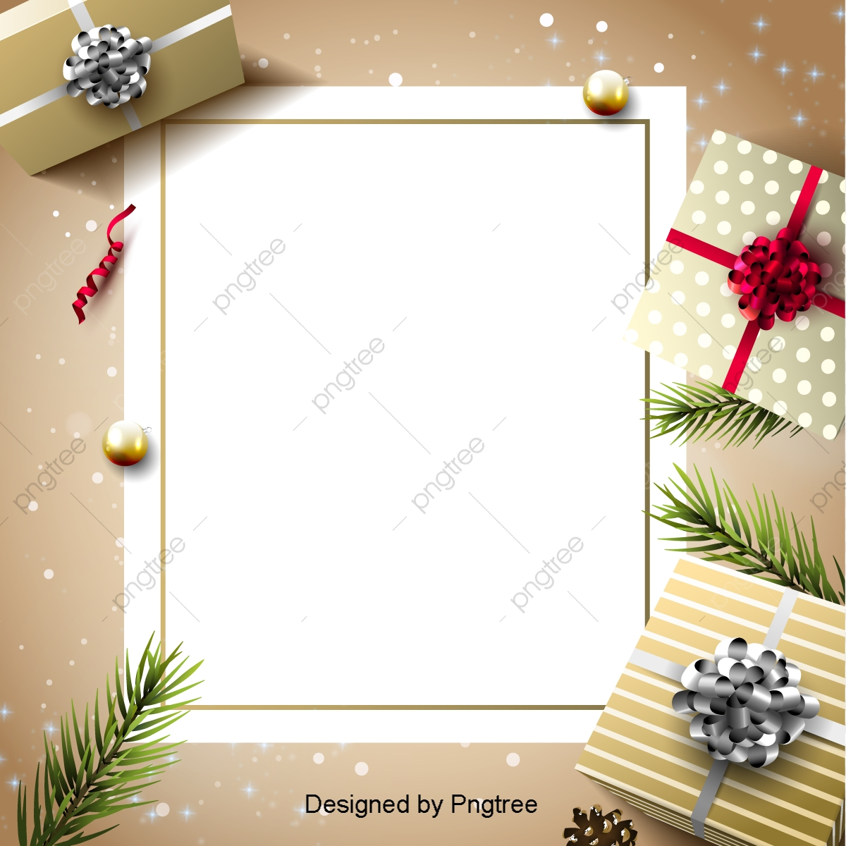 the golden gift card christmas background sns background