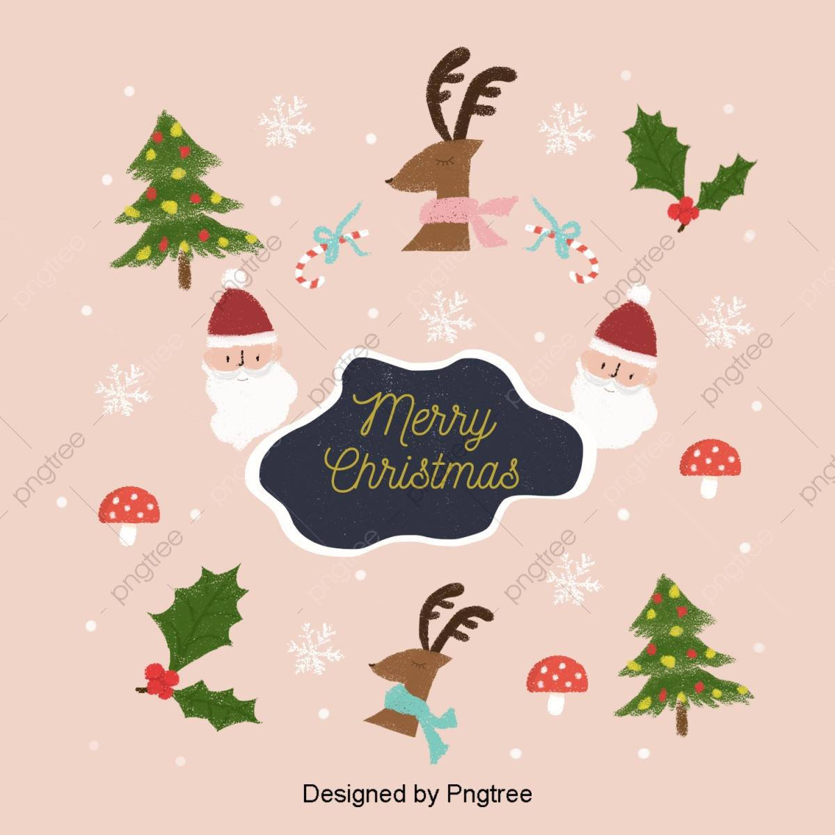 Christmas Illustrations Png.The Lovely Background Of Christmas Illustrations Elk