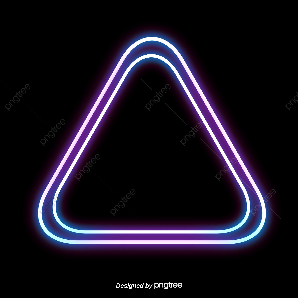 Triangle Color Neon Light Frame, Triangle, Color, Frame PNG