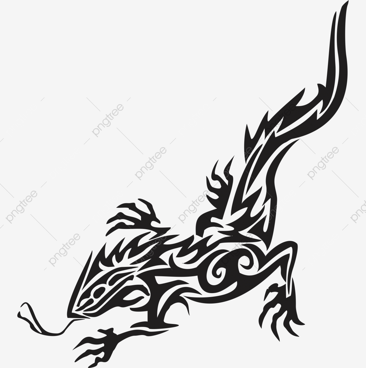 a1d28393e Commercial use resource. Upgrade to Premium plan and get license  authorization.UpgradeNow · Tribal Lizard Iguana Temporary Tattoo ...